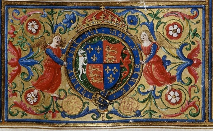 Arms of Henry VIII from BL Royal 12 C VIII, f. 4